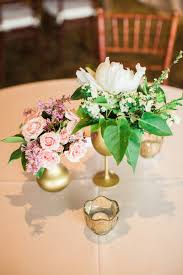 pink white gold wedding blush gold wedding flowers at riverside country club provo utah