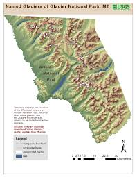 Map Of National Parks In Usa Retreat Of Glaciers In Glacier National Park