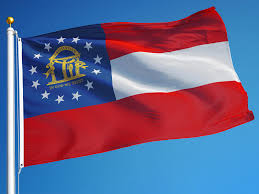 Blue Flag With White Star In The Middle Georgia Flag State Flag Of Georgia