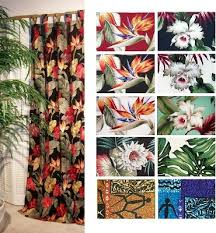 beautiful tropical print curtains ideas with tropical curtains for