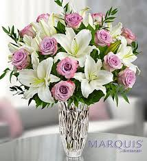 flowers jacksonville fl marquis by waterford purple bouquet in jacksonville
