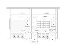 dinning room sectional elevation u2013 modern house