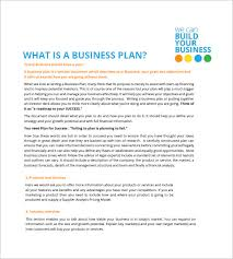 small business plan template u2013 12 free word excel pdf format