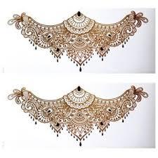 henna tattoo under breast chest back tattoo gold henna tattoo under the breast temporary