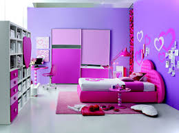 bedroom simple girls bedroom decor with purple wall paint ideas