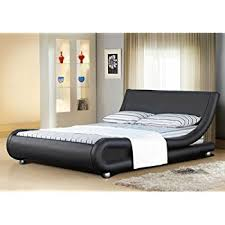 Cheap Leather Bed Frame 5ft Italian Designer Faux Leather King Size Mallorca Bed Frame In