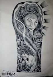pin religious half a sleeve tattoo designs tattoos on pinterest