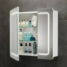 Lighted Bathroom Mirror Cabinets Enthralling Illuminated Bathroom Mirror Cabinet With Concealed