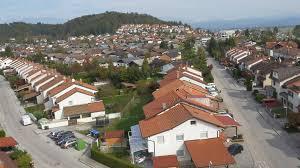 Rowhouses Aerial Suburban Row Houses In Sunny Neighborhood Stock Video