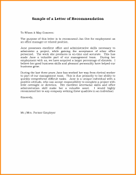 16 work reference letter sample abstract sample