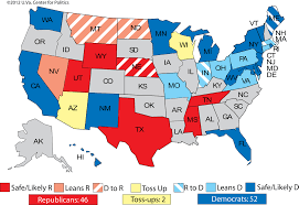 Montana On The Map by Larry J Sabato U0027s Crystal Ball President Too Close To Call