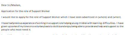 cover letter support worker family support worker cover letter