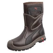 brown motorcycle boots puma safety men u0027s rigger boot brown 630435
