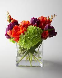 Artificial Flower Arrangement In Vase Faux Floral Arrangements At Neiman Marcus