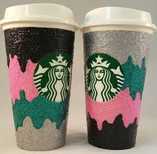 cup designs custom glitter coffee cup melt design custom decorated