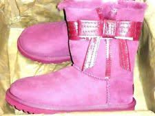 s ugg australia josette boots ugg australia josette 1003174 purple boots leather bow tie us 5 eu