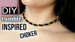 choker necklace diy images Diy tumblr inspired choker necklace easy quick jpg