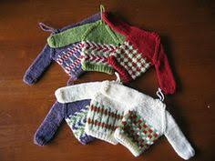 knit miniature sweater ornaments knitted toys ornaments