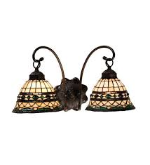 18 inch l shade 18 inch w tiffany roman 2 lt sconce wall sconces products