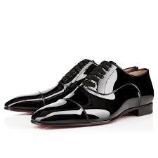 christian louboutin greggo flat patent leather black louboutin