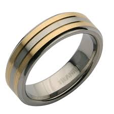 two tone wedding rings 6mm titanium two tone wedding ring band titanium rings at elma