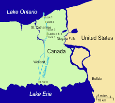 St Lawrence River Map File Map Of The Welland Canal Png Wikimedia Commons