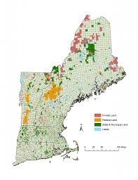 Maine Road Map State Of Large Landscape Conservation In Maine 2012 State Of