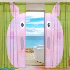 Sheer Door Curtains Aliexpress Com Buy Sheer Door Curtain Panels W55xl78 Inch