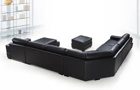 Cheap Black Leather Sectional Sofas Perfecting A Room With A Black Leather We Bring Ideas