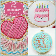 10 beautiful and free embroidery patterns