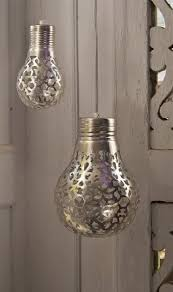 silver coloured copper metal lshades in a pear or oversized