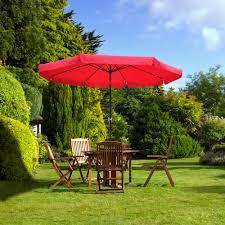 Patio Umbrellas That Tilt 10ft Aluminum Outdoor Patio Umbrella W Valance Crank Tilt Sunshade