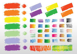 paint strokes free vectors ui download