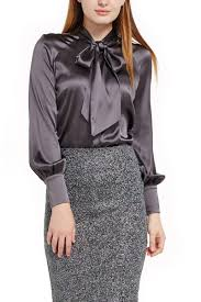 grey silk blouse modalta