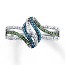 blue green rings images Kay blue green diamonds 1 5 ct tw ring sterling silver jpg