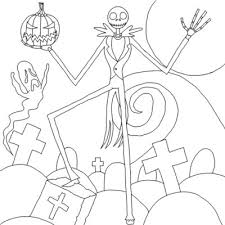 jack nightmare coloring pages nightmare
