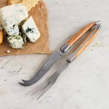 laguiole au sabot prestige cheese set olive wood k colette
