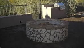 unique outdoor fire pits for phoenix landscape design desert