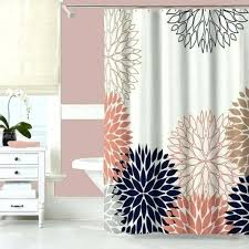 Coral And Navy Curtains Shower Curtains Blue Shower Curtains Navy Blue Shower Curtain