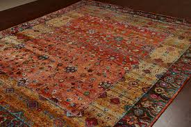 Sari Silk Rugs by 30002 Rugsville Rust Sari Silk Rug 30002 03 242 Jpg