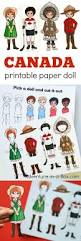 canadian dress up paper doll with a printable template adventure
