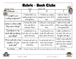 free rubric for book clubs made easy fabulous and free