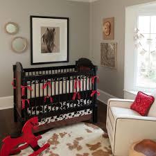 interior black and white fabric black crib bedding with blue