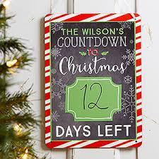 personalized christmas personalized christmas erase sign christmas countdown