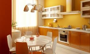 kitchen color combinations orange and yellow kitchen color