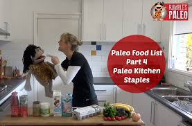 paleo diet paleo food list paleo pantry staples youtube