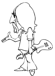 guitar coloring pages to print guitar player coloring pages cool rocker guitar player coloring
