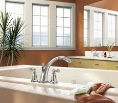 Roman Bath Faucet by Moen 86440 Chrome Deck Mounted Roman Tub Faucet Trim From The