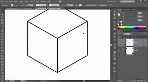 illustrator tutorial drawing an orthogonal cube with the line