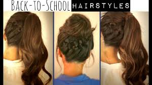 cute back to hairstyles braided ponytail u0026 messy bun